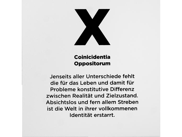 X. Coincidentia Oppositorum